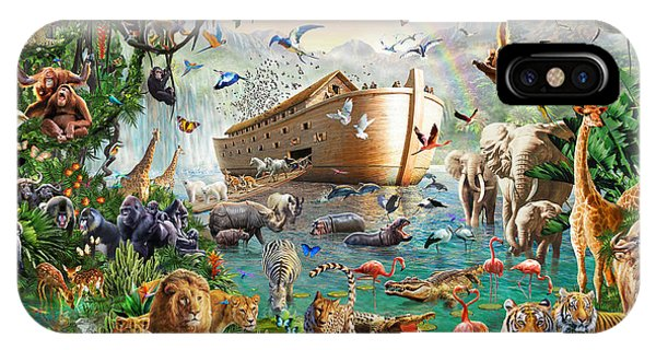 Flooded iPhone Case - Noah's Ark Variant 1 by MGL Meiklejohn Graphics Licensing