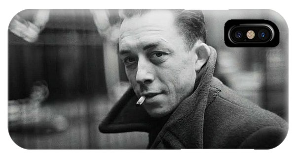 Nobel Prize Winning Writer Albert Camus  Unknown Date Or Photographer -2015           IPhone Case