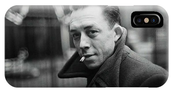 Nobel Prize Winning Writer Albert Camus Paris 1944 - 2015           IPhone Case