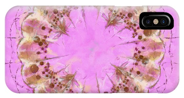 Atomic Tangerine iPhone Case - Nocturnally Balance Flowers  Id 16165-182055-22850 by S Lurk