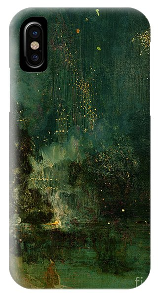 Nocturne In Black And Gold - The Falling Rocket IPhone Case