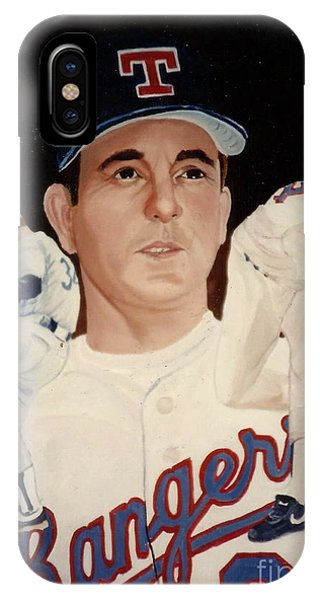 IPhone Case featuring the painting Nolan Ryan Medley by Rosario Piazza