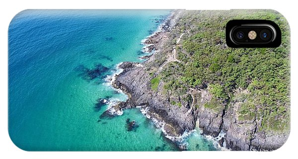 IPhone Case featuring the photograph Noosa National Park Aerial View by Keiran Lusk