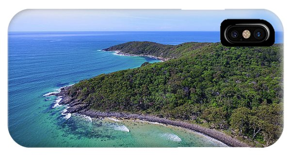 IPhone Case featuring the photograph Noosa National Park Coastal Aerial View by Keiran Lusk