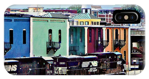 Norfolk Va - Train With Two Locomotives IPhone Case