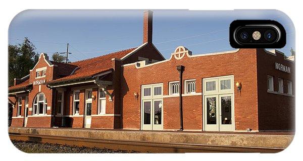 Ok iPhone Case - Norman Train Depot by Ricky Barnard