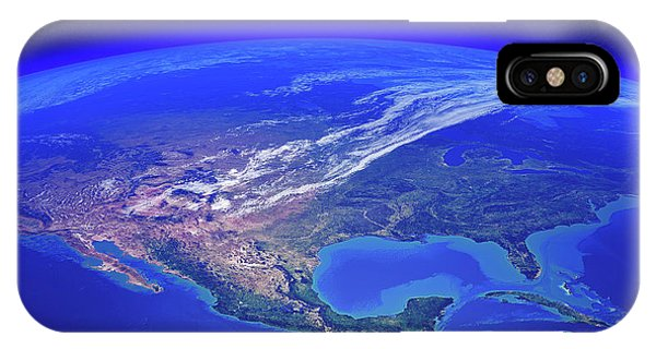 North iPhone Case - North America Seen From Space by Johan Swanepoel
