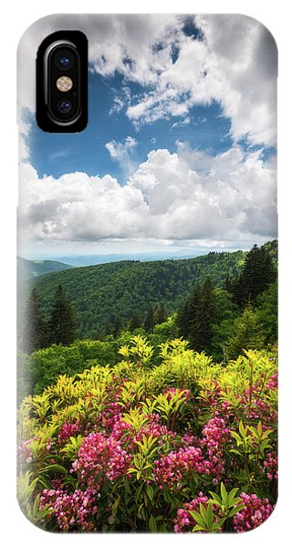 Appalachian Mountains iPhone Case - North Carolina Appalachian Mountains Spring Flowers Scenic Landscape by Dave Allen