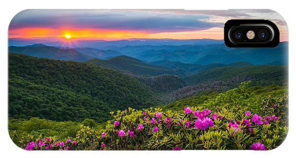 Nc iPhone Case - North Carolina Blue Ridge Parkway Landscape Craggy Gardens Nc by Dave Allen