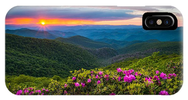 North Carolina Blue Ridge Parkway Landscape Craggy Gardens Nc IPhone Case