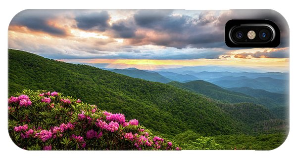 Appalachian Mountains iPhone Case - North Carolina Blue Ridge Parkway Scenic Landscape Asheville Nc by Dave Allen