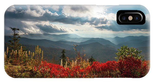 North Carolina Blue Ridge Parkway Scenic Landscape In Autumn IPhone Case