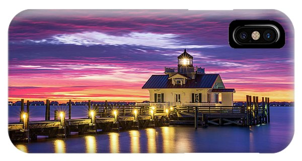 Nc iPhone Case - North Carolina Outer Banks Lighthouse Manteo Obx Nc by Dave Allen