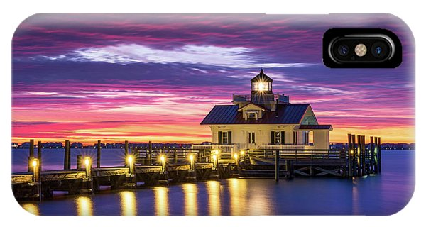 North Carolina Outer Banks Lighthouse Manteo Obx Nc IPhone Case