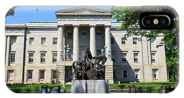 North Carolina State Capitol Building With Statue IPhone Case