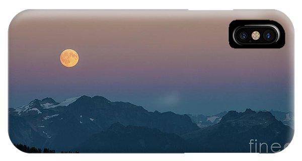 North Cascades Full Moonrise IPhone Case