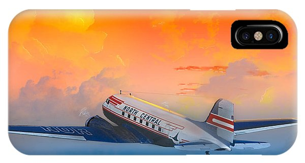 North Central Dc-3 At Sunrise IPhone Case