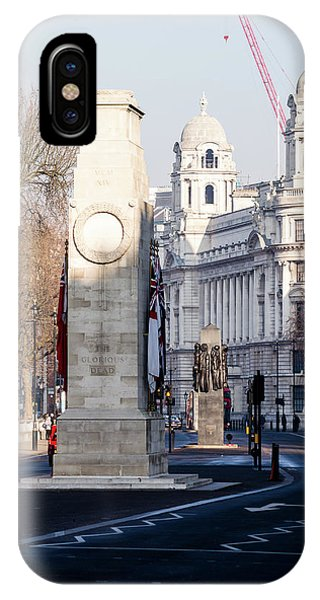 North Facade Of Cenotaph War Memorial Whitehall London IPhone Case