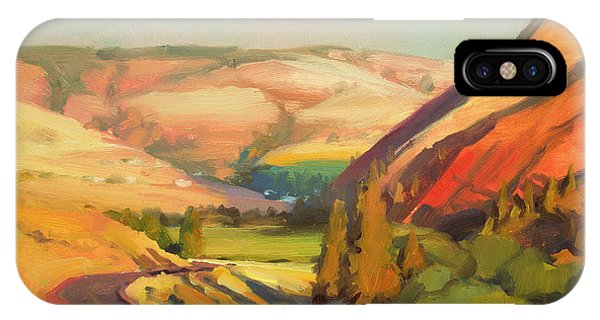 Ranch iPhone Case - North Fork Touchet by Steve Henderson
