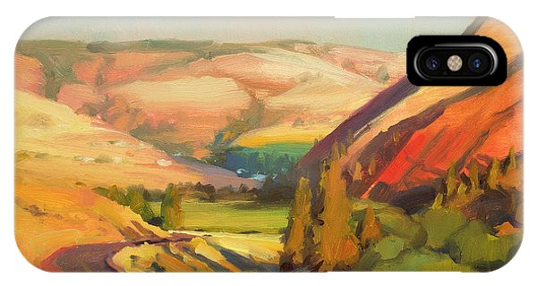 Rural iPhone Case - North Fork Touchet by Steve Henderson