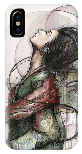 Watercolor iPhone Case - Beautiful Lady by Olga Shvartsur