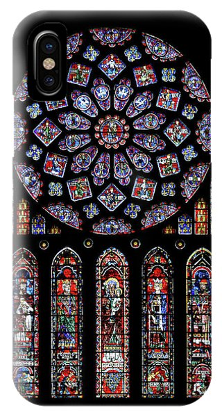 North Rose Window Of Chartres Cathedral IPhone Case