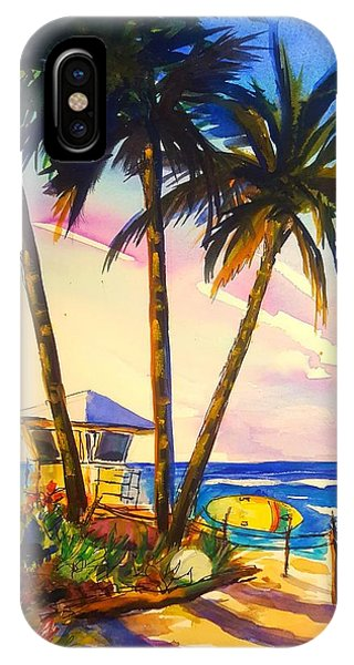 North Shore Lifeguard Hut Phone Case by Therese Fowler-Bailey