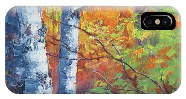 North Woods Birch IPhone Case
