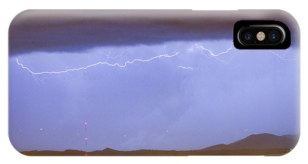 Northern Colorado Rocky Mountain Front Range Lightning Storm  IPhone Case