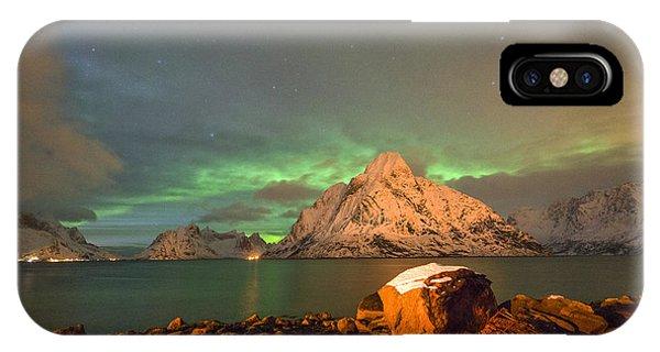 Spectacular Night In Lofoten 3 IPhone Case