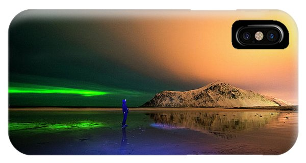 Northern Light In Lofoten, Nordland 4 IPhone Case