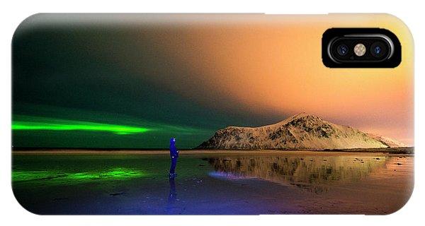 Northern Light In Lofoten, Nordland 4 IPhone Case