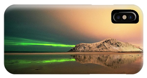 Northern Light In Lofoten Nordland 5 IPhone Case