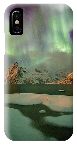 Northern Lights Above Olstinden IPhone Case