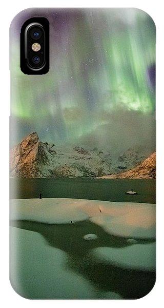 Northern Lights Above Olstinden IPhone Case