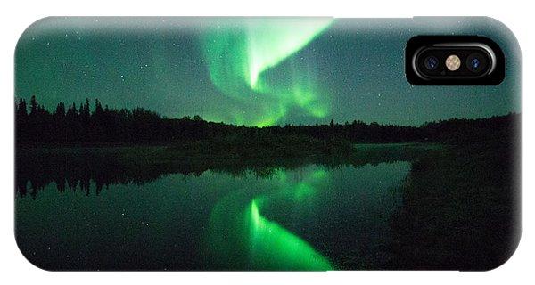 iPhone Case - Northern Lights Alaska by April Bielefeldt