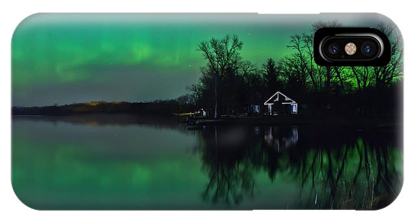 Northern Lights At Gull Lake IPhone Case