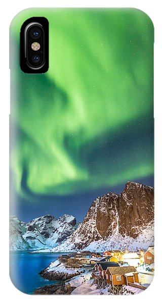 Northern Lights In Hamnoy IPhone Case