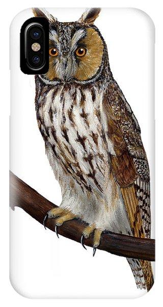 Northern Long-eared Owl Asio Otus - Hibou Moyen-duc - Buho Chico - Hornuggla - Nationalpark Eifel IPhone Case
