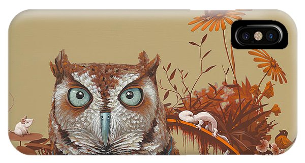 Autumn iPhone Case - Northern Screech Owl by Jasper Oostland