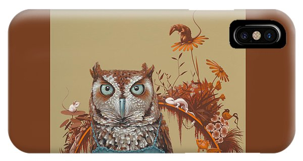 Mouse iPhone Case - Northern Screech Owl by Jasper Oostland