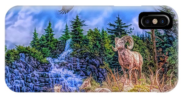 IPhone Case featuring the digital art Northern Wilderness by Ray Shiu