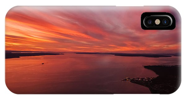 Whidbey iPhone Case - Northwest Searing Sunset Palette by Mike Reid