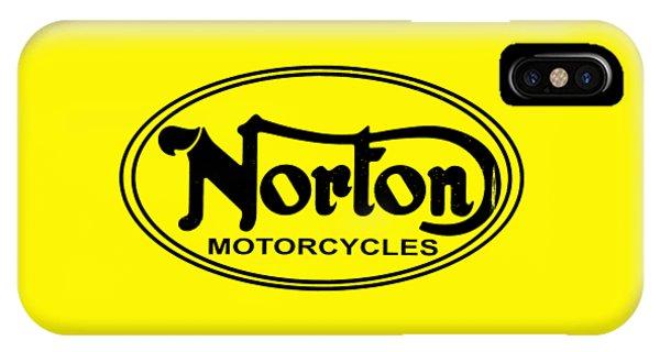 Vintage iPhone Case - Norton Motorcycles by Mark Rogan