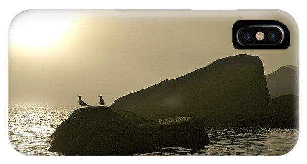 Norway, Tromso, Silhouette Of Pair IPhone Case