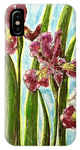 Nostalgic Irises IPhone Case