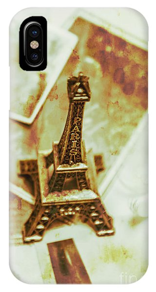 French iPhone X Case - Nostalgic Mementos Of A Paris Trip by Jorgo Photography - Wall Art Gallery