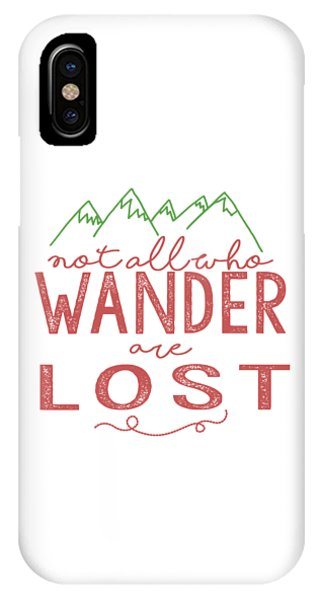 Not All Who Wander Are Lost In Pink IPhone Case