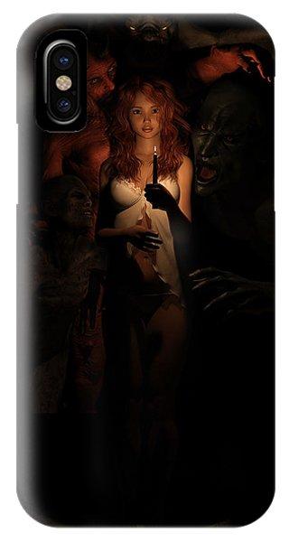 Not Alone In The Dark IPhone Case