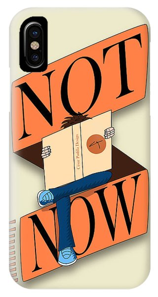 Not Now, I'm Reading IPhone Case